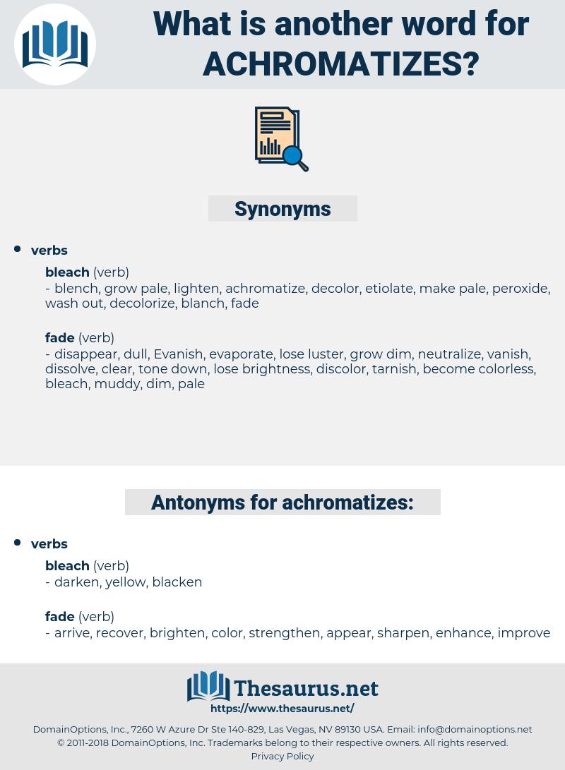 achromatizes, synonym achromatizes, another word for achromatizes, words like achromatizes, thesaurus achromatizes