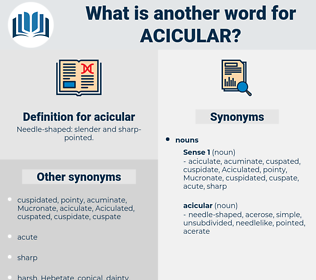 acicular, synonym acicular, another word for acicular, words like acicular, thesaurus acicular