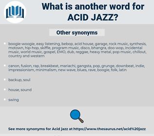 acid jazz, synonym acid jazz, another word for acid jazz, words like acid jazz, thesaurus acid jazz