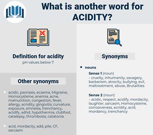acidity, synonym acidity, another word for acidity, words like acidity, thesaurus acidity