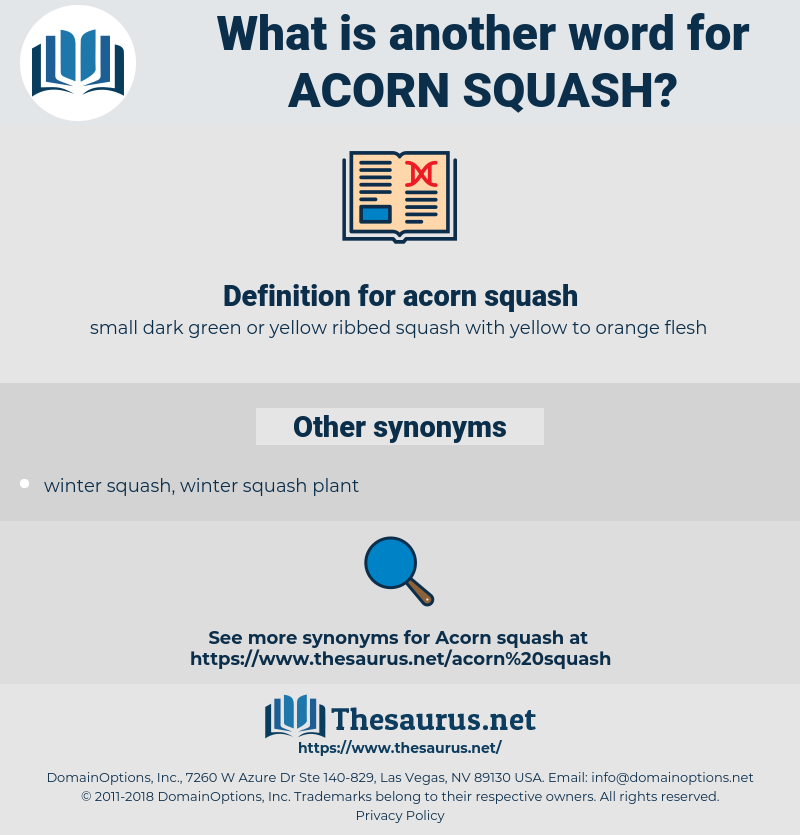 acorn squash, synonym acorn squash, another word for acorn squash, words like acorn squash, thesaurus acorn squash