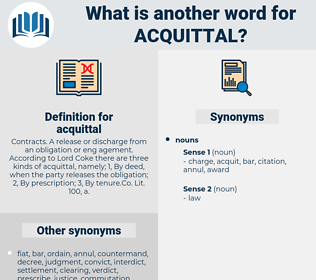 acquittal, synonym acquittal, another word for acquittal, words like acquittal, thesaurus acquittal