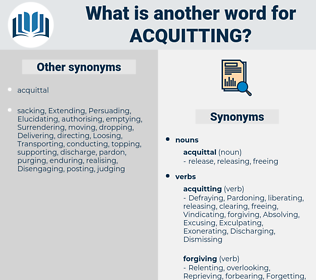 Acquitting, synonym Acquitting, another word for Acquitting, words like Acquitting, thesaurus Acquitting