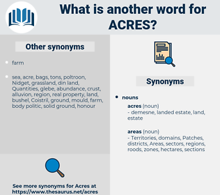 acres, synonym acres, another word for acres, words like acres, thesaurus acres