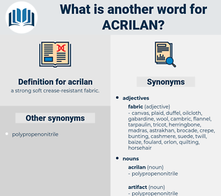 acrilan, synonym acrilan, another word for acrilan, words like acrilan, thesaurus acrilan