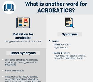 acrobatics, synonym acrobatics, another word for acrobatics, words like acrobatics, thesaurus acrobatics
