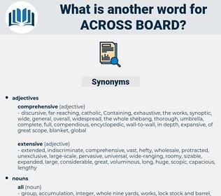 across board, synonym across board, another word for across board, words like across board, thesaurus across board