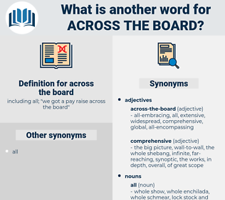 across-the-board, synonym across-the-board, another word for across-the-board, words like across-the-board, thesaurus across-the-board