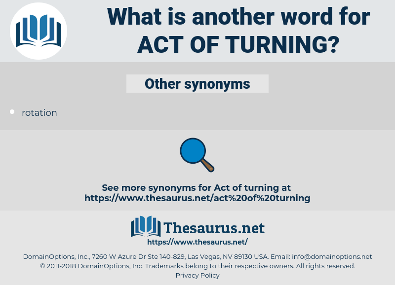 act of turning, synonym act of turning, another word for act of turning, words like act of turning, thesaurus act of turning