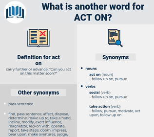 act on, synonym act on, another word for act on, words like act on, thesaurus act on