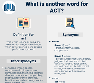 act, synonym act, another word for act, words like act, thesaurus act