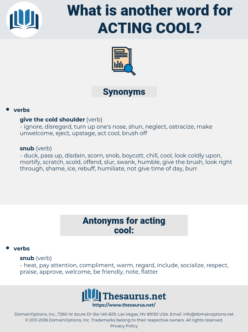 acting cool, synonym acting cool, another word for acting cool, words like acting cool, thesaurus acting cool