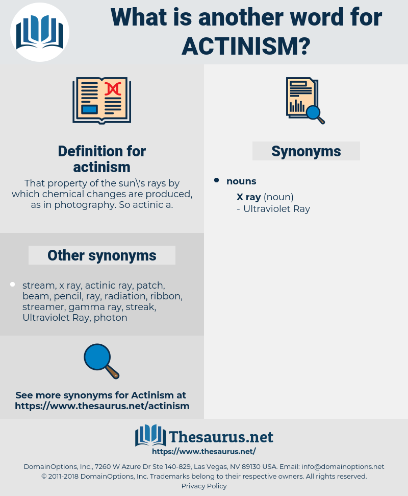 actinism, synonym actinism, another word for actinism, words like actinism, thesaurus actinism