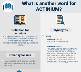 actinium, synonym actinium, another word for actinium, words like actinium, thesaurus actinium
