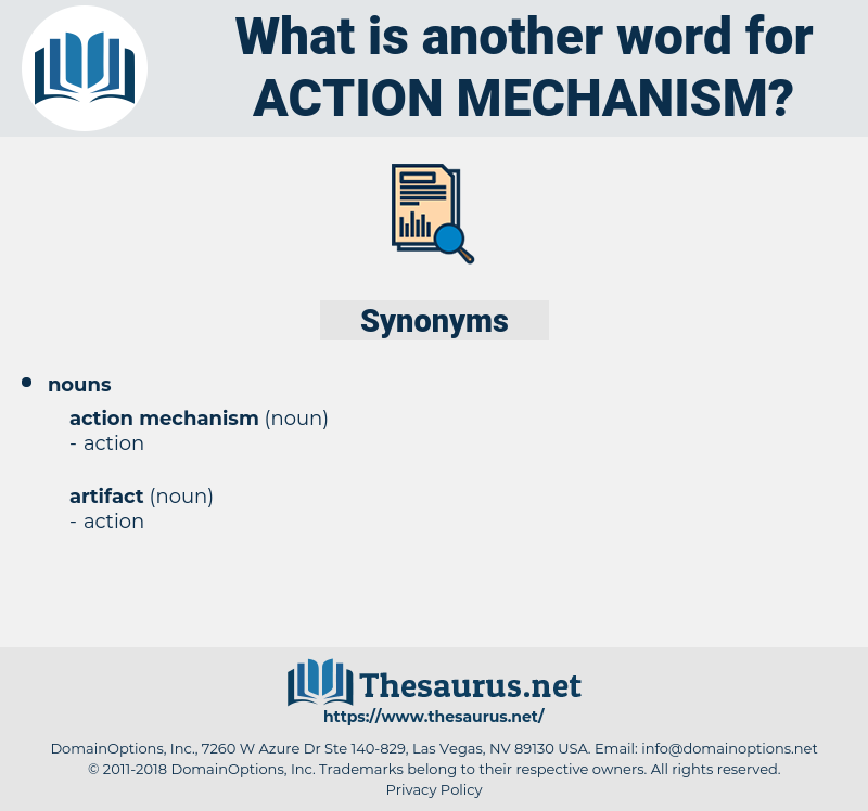 action mechanism, synonym action mechanism, another word for action mechanism, words like action mechanism, thesaurus action mechanism