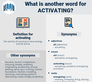 activating, synonym activating, another word for activating, words like activating, thesaurus activating