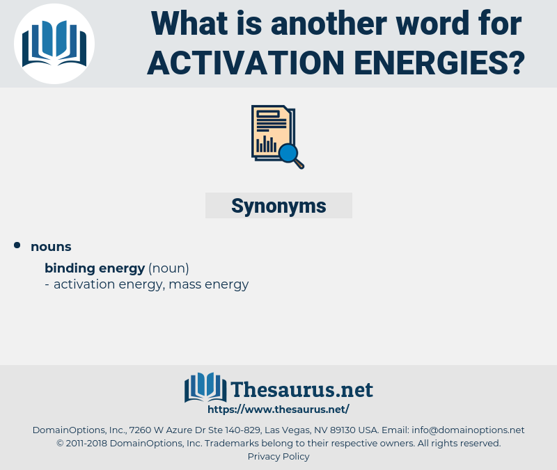 activation energy related words