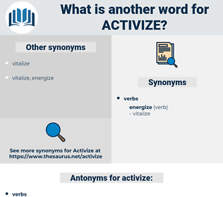 activize, synonym activize, another word for activize, words like activize, thesaurus activize