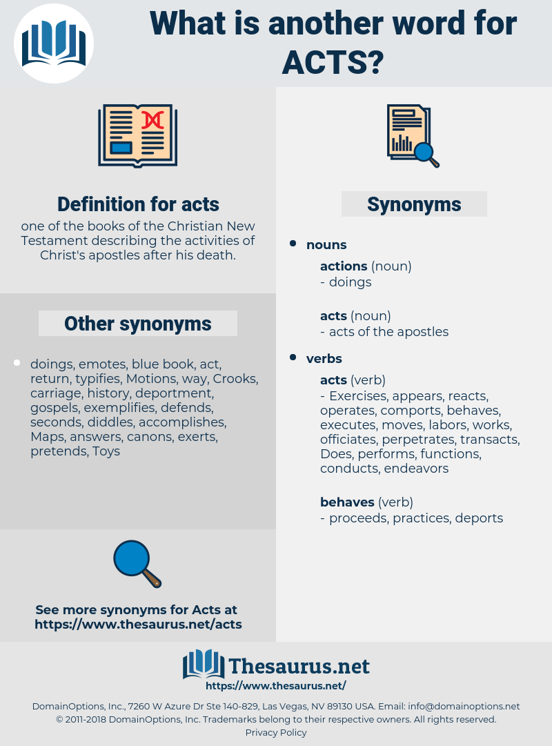 acts, synonym acts, another word for acts, words like acts, thesaurus acts