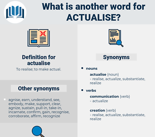actualise, synonym actualise, another word for actualise, words like actualise, thesaurus actualise