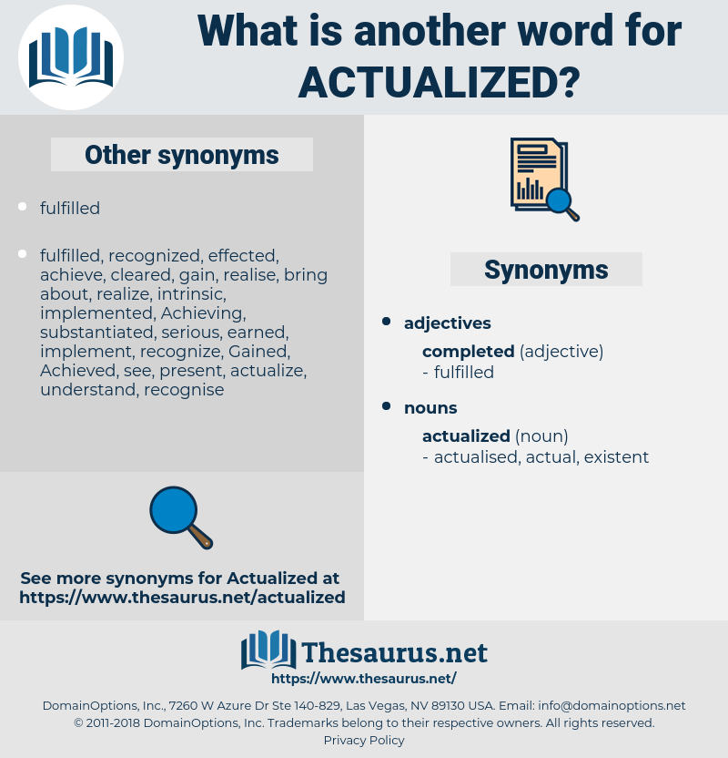 actualized, synonym actualized, another word for actualized, words like actualized, thesaurus actualized