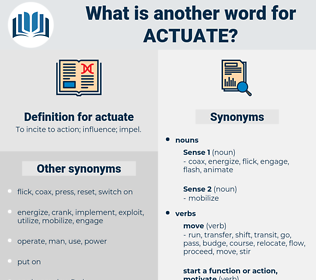 actuate, synonym actuate, another word for actuate, words like actuate, thesaurus actuate