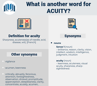 acuity, synonym acuity, another word for acuity, words like acuity, thesaurus acuity
