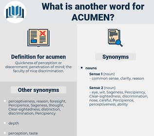 acumen, synonym acumen, another word for acumen, words like acumen, thesaurus acumen