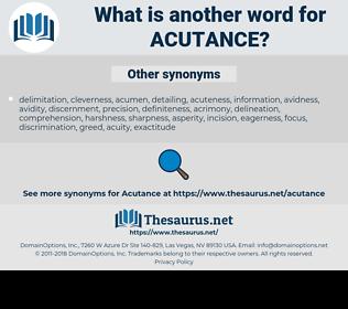 acutance, synonym acutance, another word for acutance, words like acutance, thesaurus acutance
