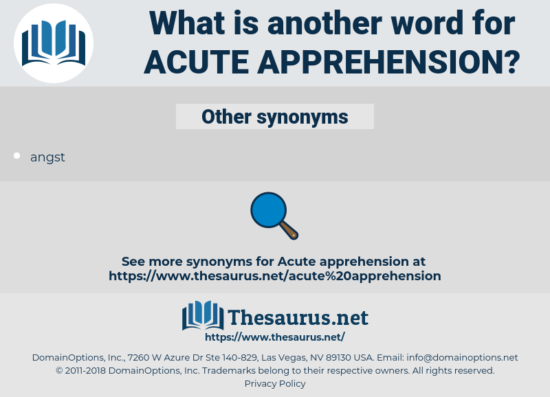 acute apprehension, synonym acute apprehension, another word for acute apprehension, words like acute apprehension, thesaurus acute apprehension