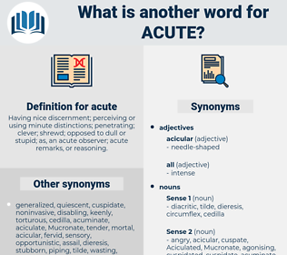 acute, synonym acute, another word for acute, words like acute, thesaurus acute