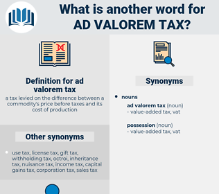 ad valorem tax, synonym ad valorem tax, another word for ad valorem tax, words like ad valorem tax, thesaurus ad valorem tax