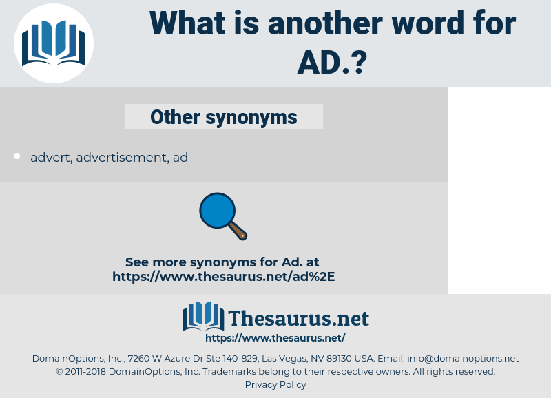 ad, synonym ad, another word for ad, words like ad, thesaurus ad
