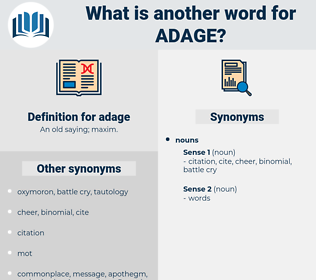 adage, synonym adage, another word for adage, words like adage, thesaurus adage