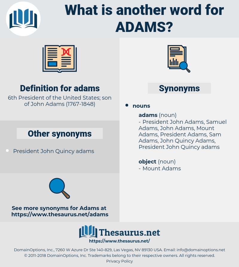 adams, synonym adams, another word for adams, words like adams, thesaurus adams