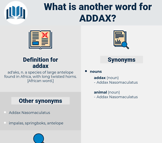 addax, synonym addax, another word for addax, words like addax, thesaurus addax