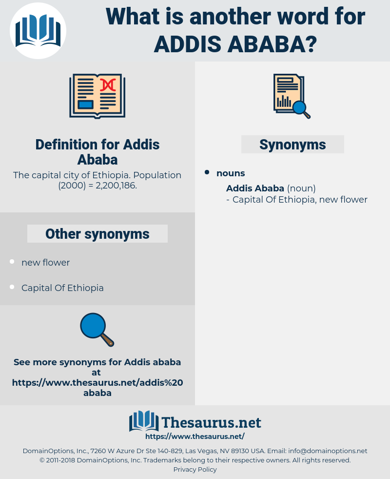 Addis Ababa, synonym Addis Ababa, another word for Addis Ababa, words like Addis Ababa, thesaurus Addis Ababa