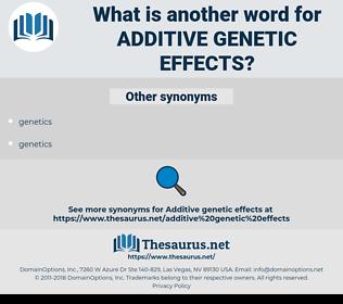 additive genetic effects, synonym additive genetic effects, another word for additive genetic effects, words like additive genetic effects, thesaurus additive genetic effects