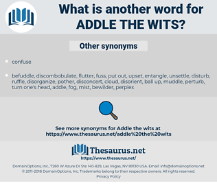 addle the wits, synonym addle the wits, another word for addle the wits, words like addle the wits, thesaurus addle the wits