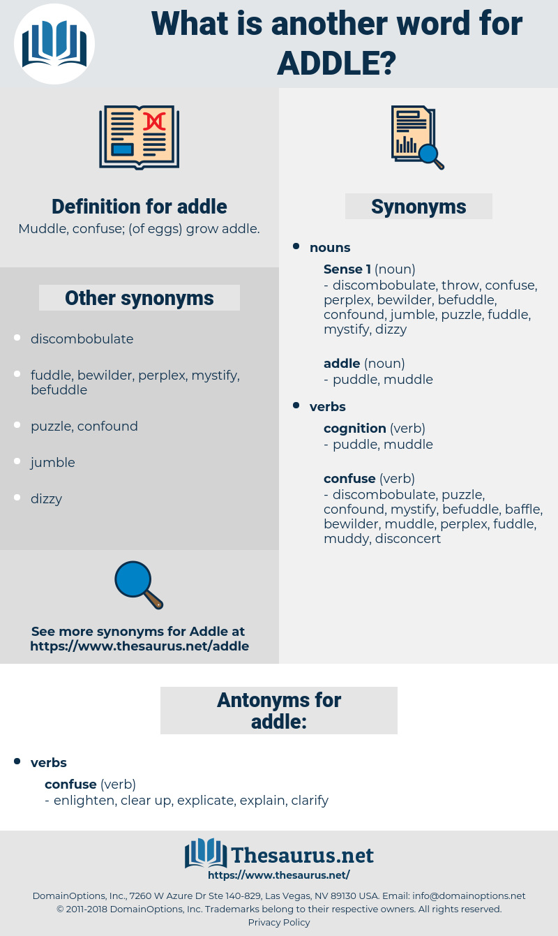 addle, synonym addle, another word for addle, words like addle, thesaurus addle