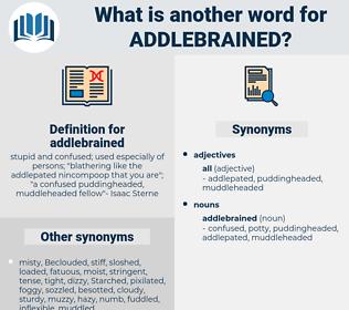 addlebrained, synonym addlebrained, another word for addlebrained, words like addlebrained, thesaurus addlebrained