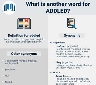 addled, synonym addled, another word for addled, words like addled, thesaurus addled