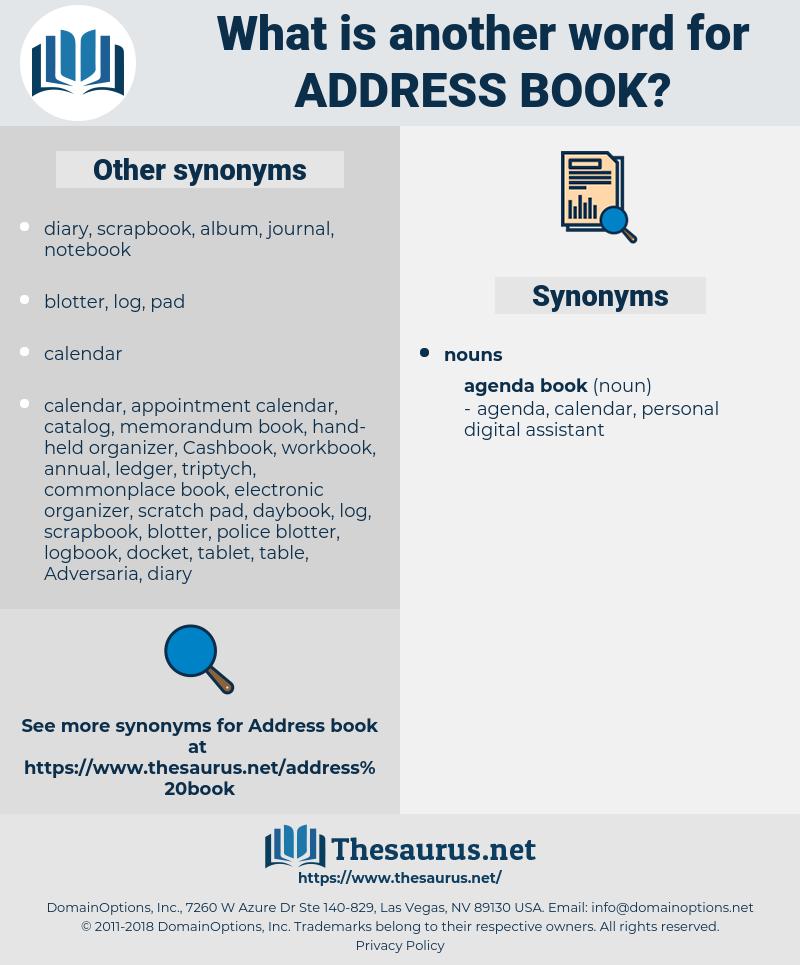 address book, synonym address book, another word for address book, words like address book, thesaurus address book