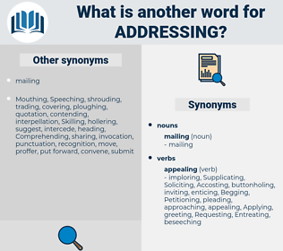 Addressing, synonym Addressing, another word for Addressing, words like Addressing, thesaurus Addressing