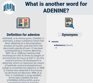 adenine, synonym adenine, another word for adenine, words like adenine, thesaurus adenine