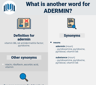 adermin, synonym adermin, another word for adermin, words like adermin, thesaurus adermin