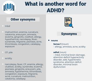 adhd, synonym adhd, another word for adhd, words like adhd, thesaurus adhd