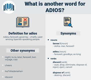 adios, synonym adios, another word for adios, words like adios, thesaurus adios