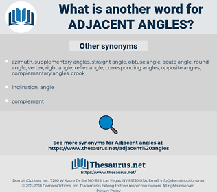 adjacent angles, synonym adjacent angles, another word for adjacent angles, words like adjacent angles, thesaurus adjacent angles