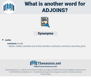adjoins, synonym adjoins, another word for adjoins, words like adjoins, thesaurus adjoins